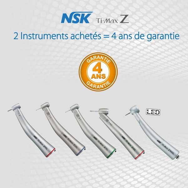 2 Instruments NSK = 4 ans de garantie