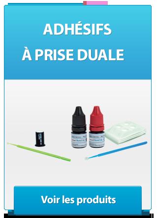 Adhésif dentaires à prise duale