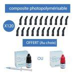 120 compules de composites photopolymérisable + 1 Adhésif OFFERT