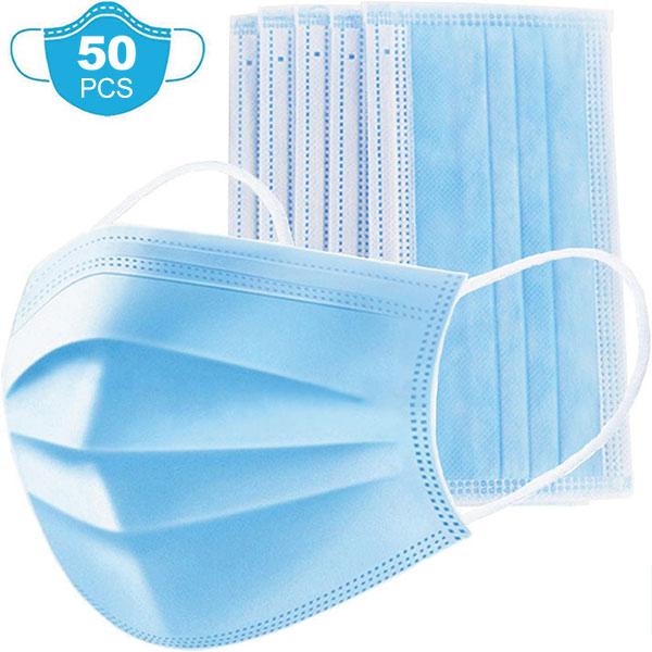 50 Masques 3 plis civil à élastique